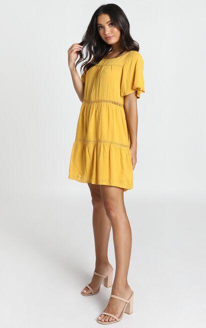 Brynn Dress in mustard - 14 (XL), Mustard, hi-res image number null