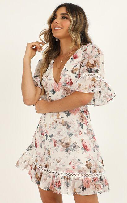 My Darkest Night Dress in white floral - 20 (XXXXL), White, hi-res image number null
