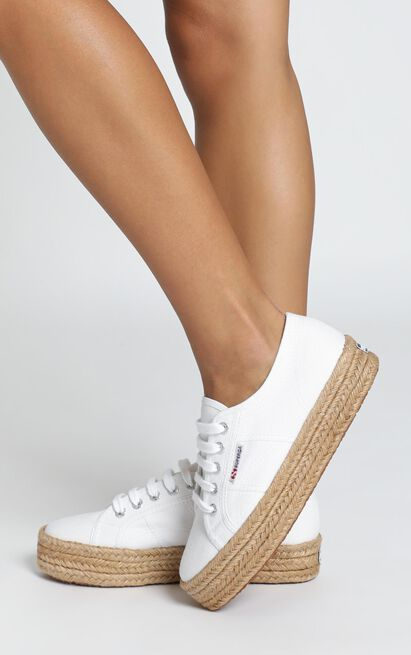 Superga - 2730 Cotropew Sneakers in white canvas - 11, White, hi-res image number null