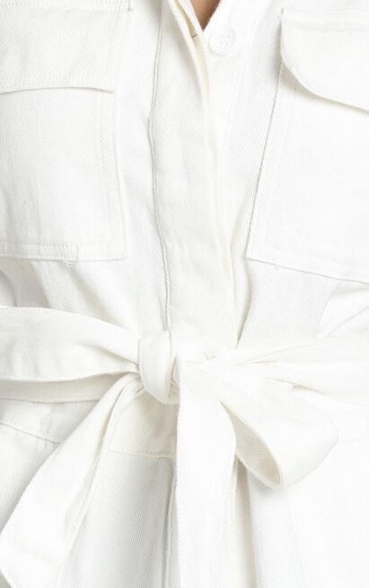 Kade Playsuit in white - 8 (S), White, hi-res image number null