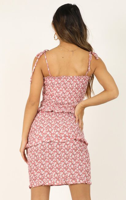 One Thing Right dress in red floral - 12 (L), Red, hi-res image number null