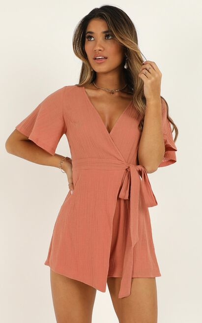 Beachside Pier Playsuit in dusty rose - 20 (XXXXL), Pink, hi-res image number null