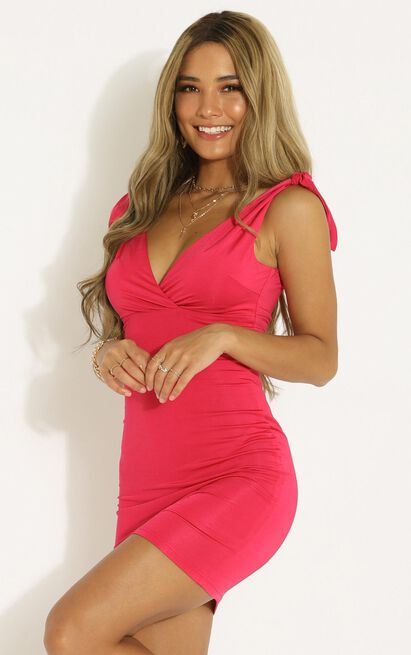 Lets Get It Started dress in berry - 14 (XL), Pink, hi-res image number null