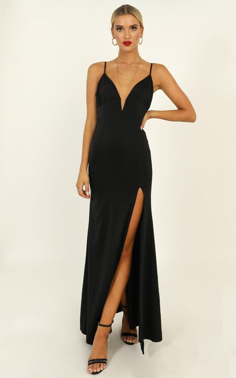Belle Of The Ball Maxi Dress In Black