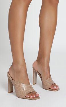 Billini - Yumi Heels In Nude Croc