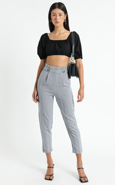 All Of The Above Pants In Black Check