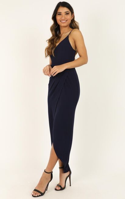 Lucky Day maxi dress in navy - 6 (XS), Navy, hi-res image number null