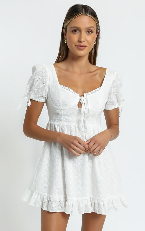 Perla Dress in White