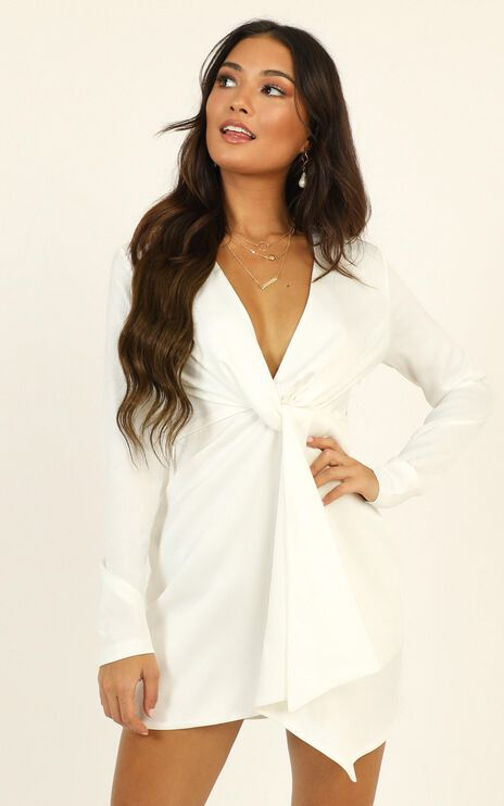 Stop Thinking About It Dress In White