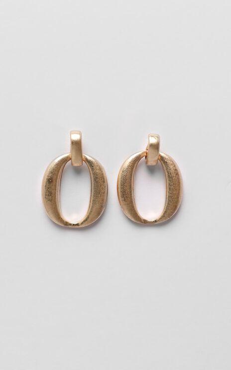 Next Step Hoop Earrings In Gold