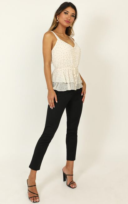 Its All Luck Top in cream spot - 20 (XXXXL), Cream, hi-res image number null