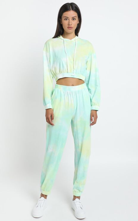 Lopez Two Piece Set in Aqua Tie Dye