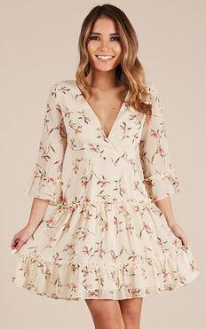 Like Art Dress In Lemon Floral