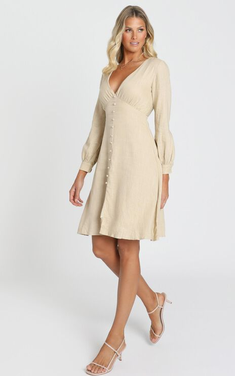 Viewed From A Far Dress In Beige