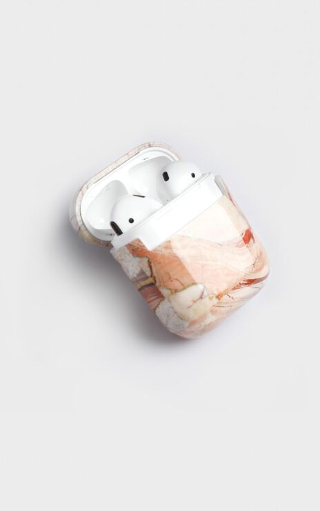 Airpods Cover In Tan Marble