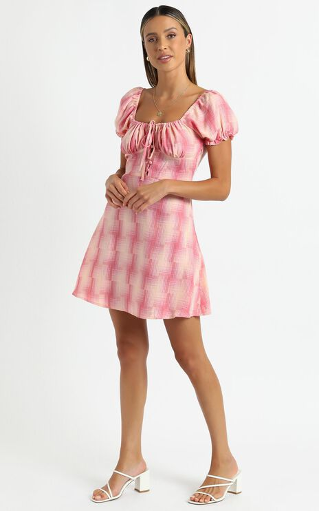 Houston Dress in Pink Check