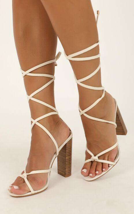 Billini - Lana Heels In Beige Linen