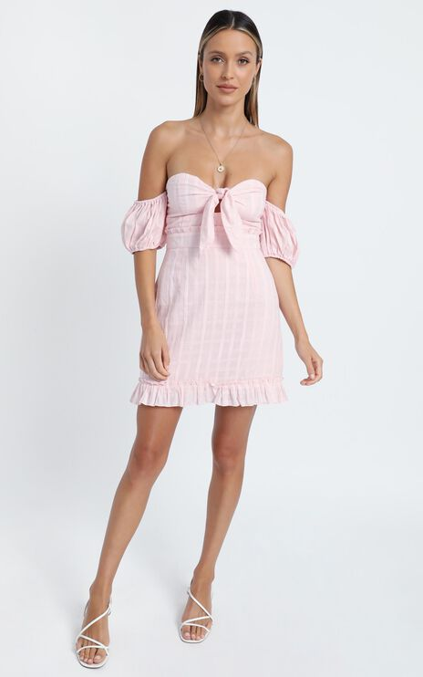 Serendipity Mini Dress in Blush