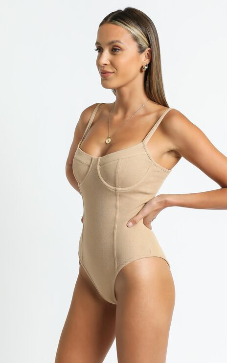 Reaghan Bodysuit in Tan