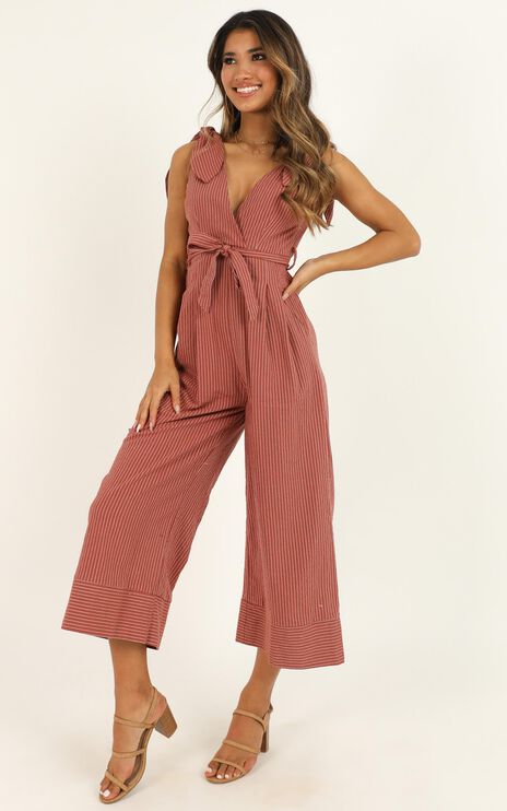 Endless Circling Jumpsuit in Dusty Rose