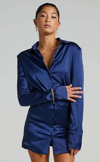 Lioness - Mirror Image Mini Dress in Blue