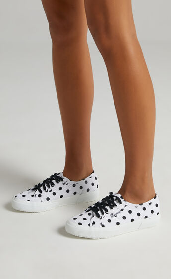 Superga - 2750 Polkadots Sneakers in A3Y White Black Dots