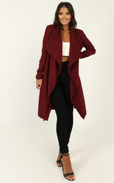 Feeling Lucky Coat In Wine