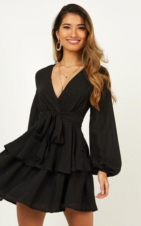 Breaks Like A Heart Dress In Black