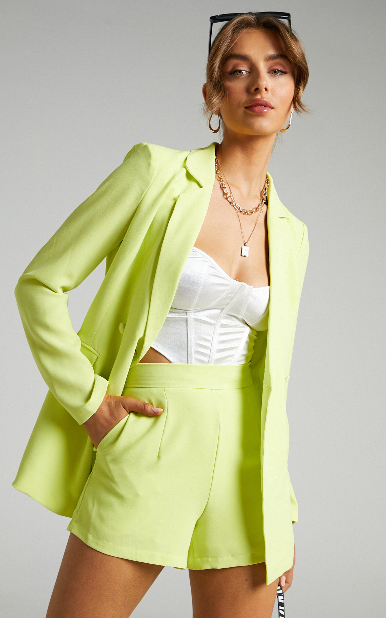 Quick To Win Blazer in Lime - 06, GRN2, super-hi-res image number null