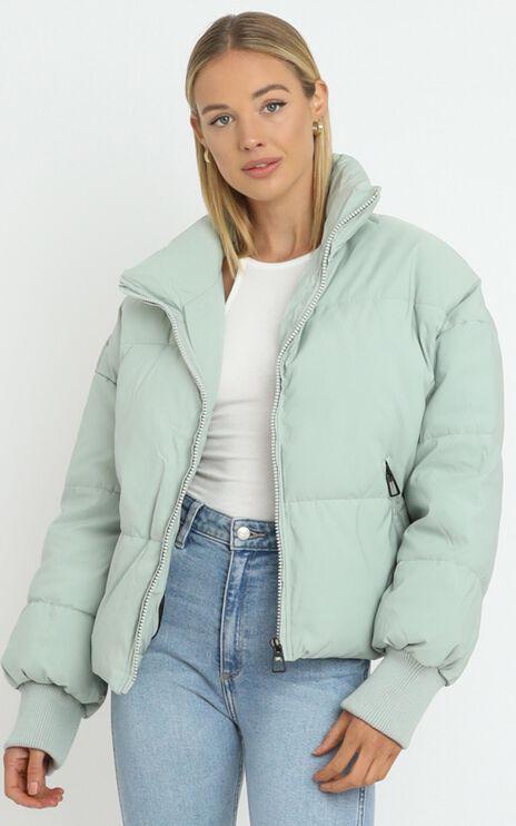 Windsor Puffer Jacket in Light Khaki