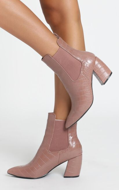 Therapy - Steele boots in musk croc - 10, Blush, hi-res image number null