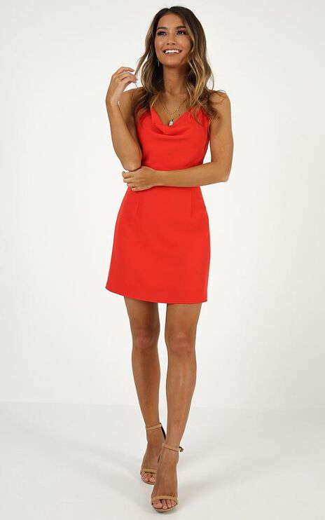 Lover Red Dress In Red