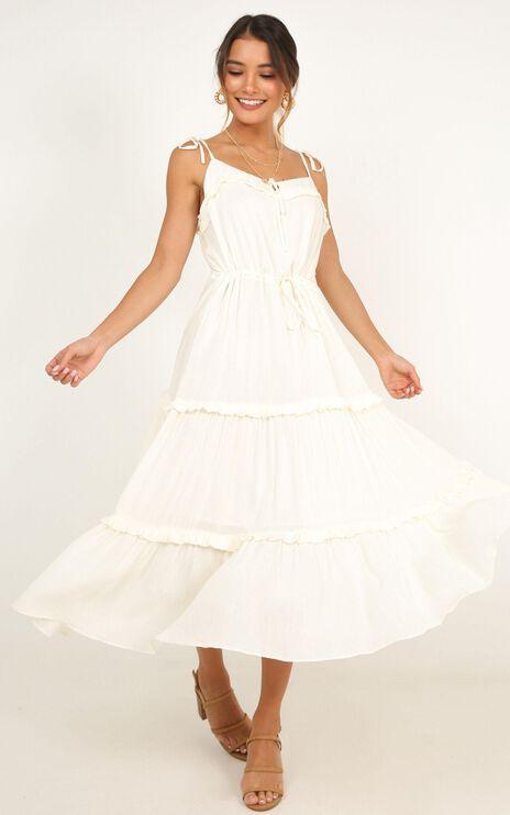 Wild Vibes Dress In Cream