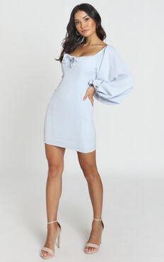 Hydrangea Dress In Powder Blue