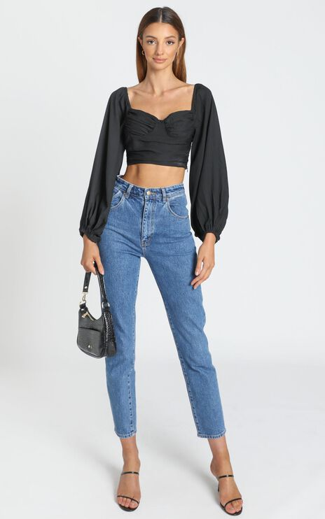 Fallon Top in Black