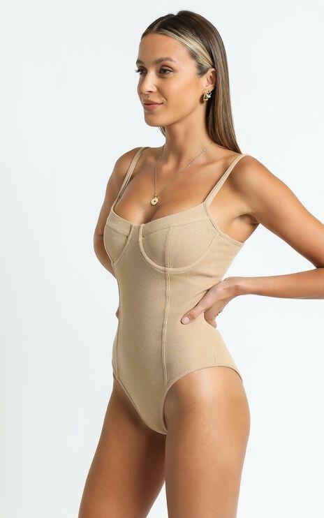 Reaghan Bodysuit in Tan