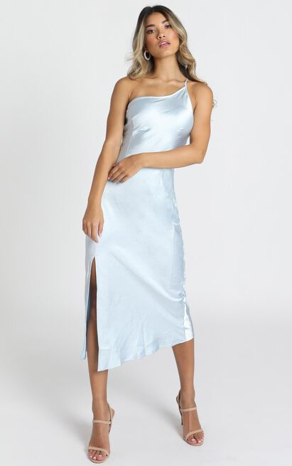 Enchanted With You Dress In baby blue satin - 14 (XL), Blue, hi-res image number null