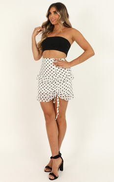 Keep It In Mind Skirt In White Spot