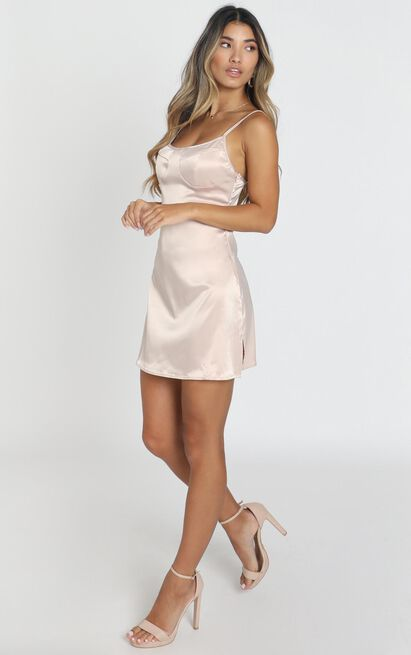 Charlotte Dress in nude - 12 (L), Beige, hi-res image number null