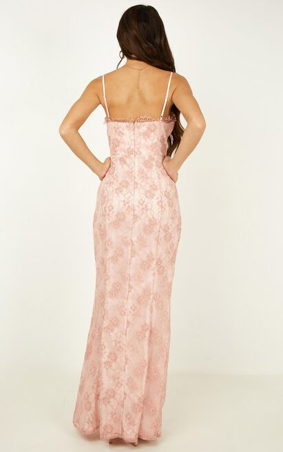 Stay Flow Dress in blush lace - 20 (XXXXL), Blush, hi-res image number null