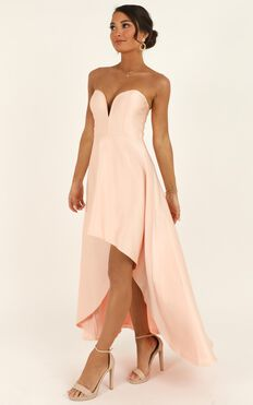 Dancing With Our Hands Tied Dress In Blush