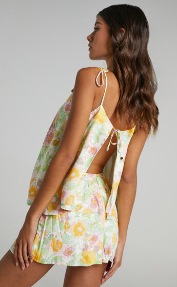 Arko Two Piece set in Linear Floral