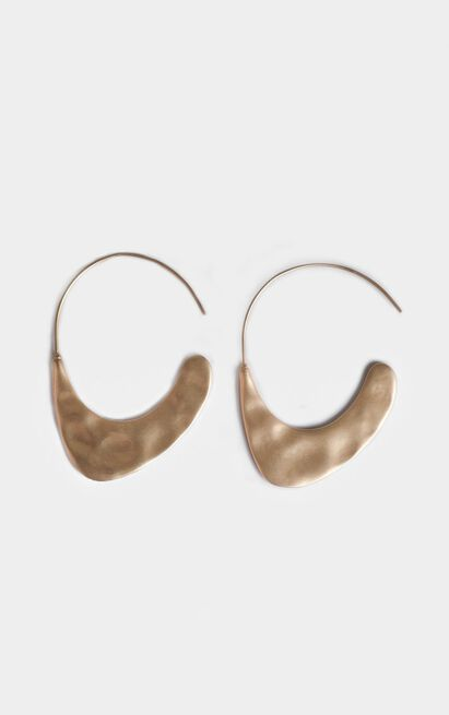 Initial Connection Drop Earrings  In Gold, , hi-res image number null