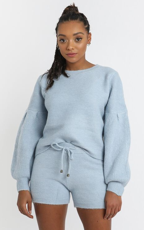 Siobhan Knit Jumper in Sky Blue