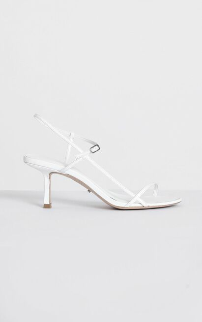 Tony Bianco - Caprice Heels in white kid - 10, White, hi-res image number null