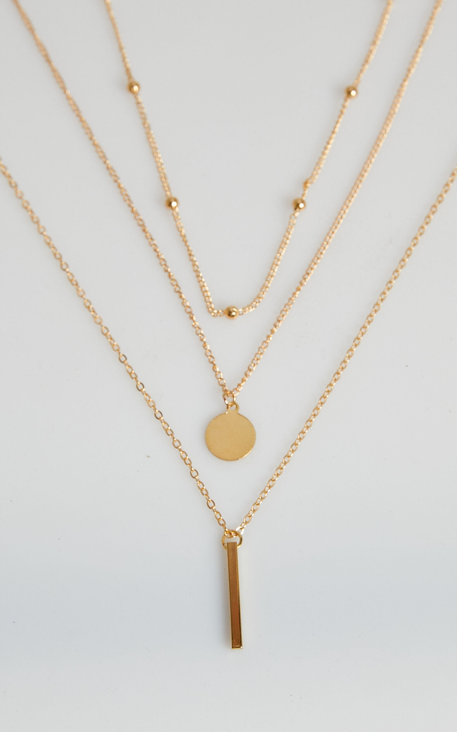 The Guest List necklace in Gold, GLD1, super-hi-res image number null