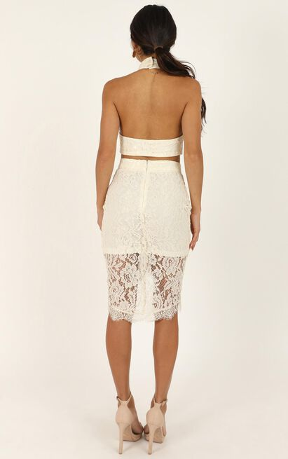 I Own My Heart in Two Piece Set in cream lace - 18 (XXXL), Cream, hi-res image number null