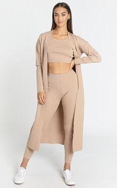 Nova Knitted Cardigan in Cocoa