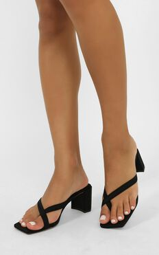 Tony Bianco - Serrah Heels In Black Lycra
