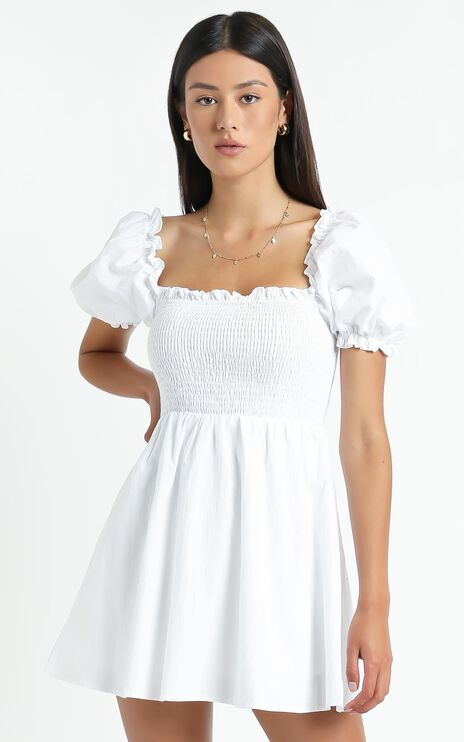 Mulberry Dress in White